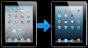 ipad cracked screen